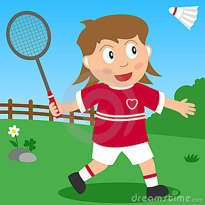 Badminton Girl in the Park