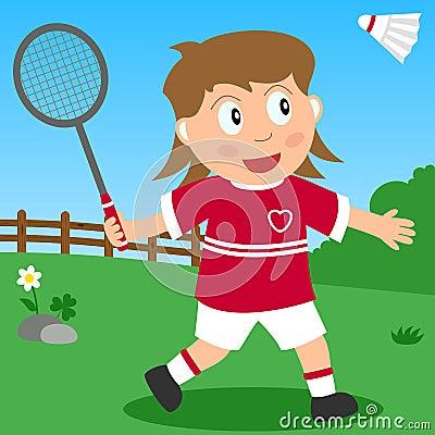 Badminton Girl in the Park