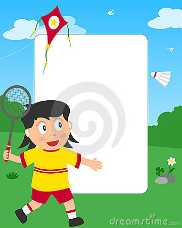 Badminton Girl Photo Frame