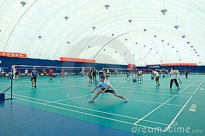 Badminton hall internal Editorial Stock Photo