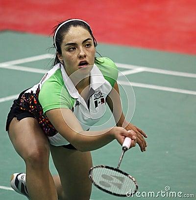Badminton mexico woman Editorial Stock Photo