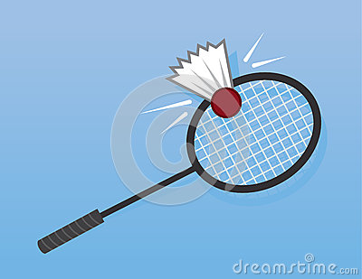 Badminton Racket Hit