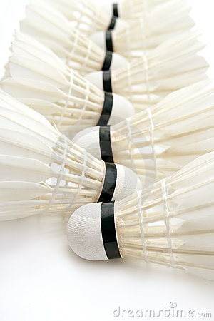 Badminton shuttlecocks as  background