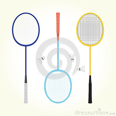 Free Badminton Vector Set Royalty Free Stock Image - 46997116