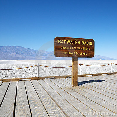 Free Badwater Basin In Death Valley. Stock Image - 2042261