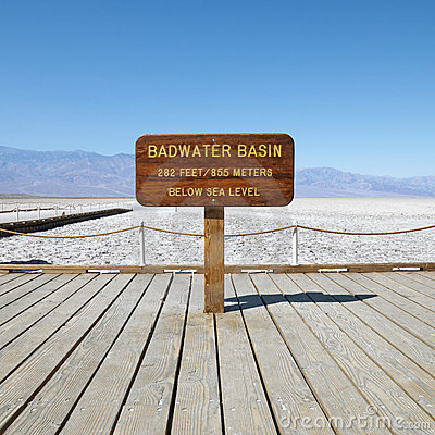 Free Badwater Basin In Death Valley. Stock Photography - 2042262