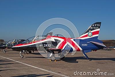 BAe Hawk on the flight lane Editorial Photo