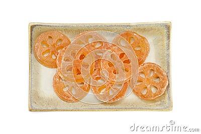 Bael Part Sweet Dessert on dish