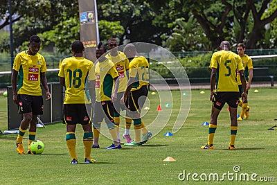 Bafana Bafana övar Redaktionell Foto