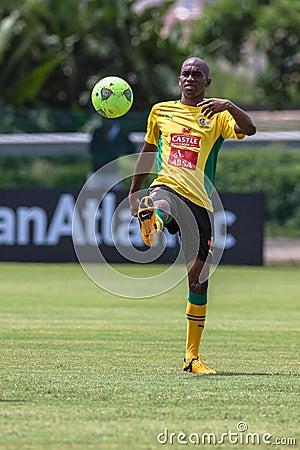 Bafana Bafana Player Ball Editorial Image