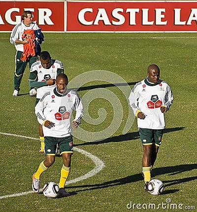 Bafana Bafana Soccer Team Practice Editorial Photo