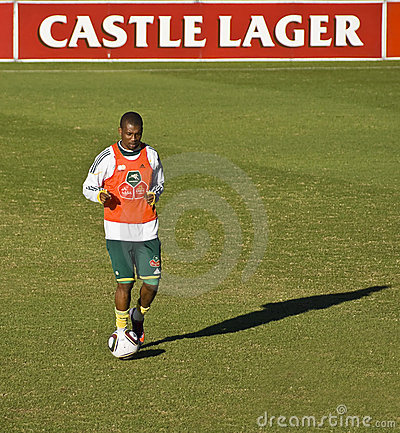 Bafana Bafana Soccer Team Practice Editorial Photography