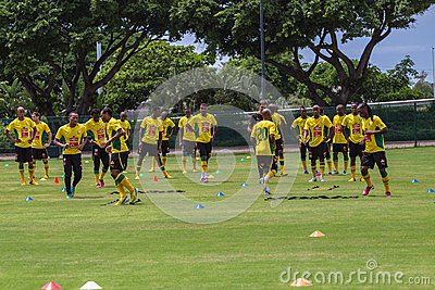 Bafana Bafana Team Practice Editorial Stock Image