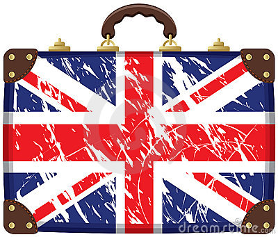 Bag with a British flag