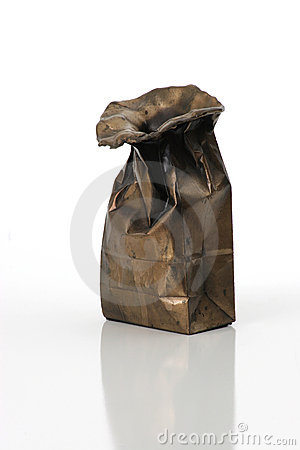 Bag cast in bronze