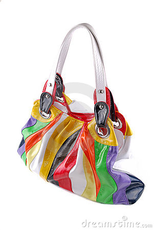 Bag from colour rags