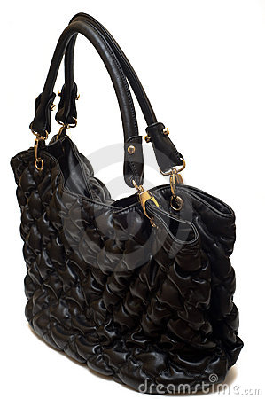 Bag female from a black skin