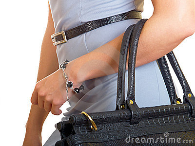 Bag on a female hand