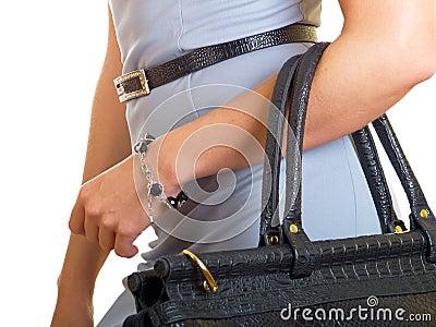 Bag on a female hand