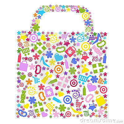 Free Bag For Shopping. Vector Stock Image - 18011061