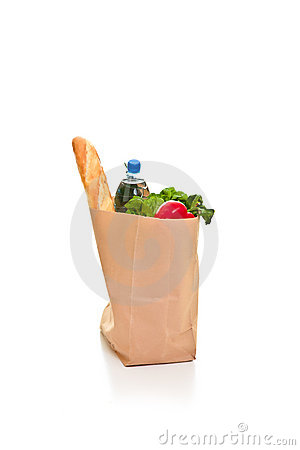 Bag full of groceries