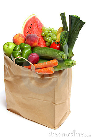 Free Bag Full Of Healthy Fruits And Vegetables Royalty Free Stock Photos - 13288318