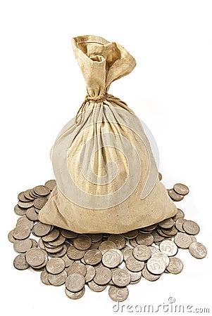 Free Bag Full Of Rubles Stock Photo - 20932190
