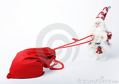 Bag With Gifts And Santa