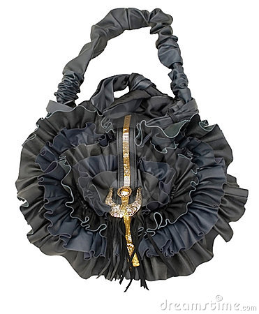 Bag handwork, design Black rose
