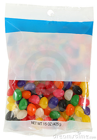 Bag of Jelly Beans. Bag Of Jelly Beans Royalty Free Stock Photo   Image  17553585