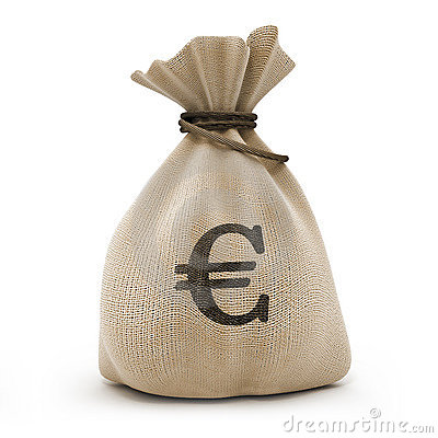 Bag with money euro