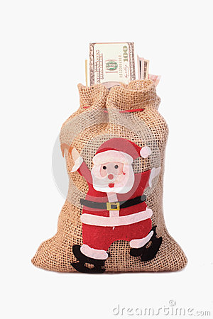 Bag of money with the image of St. Nicholas
