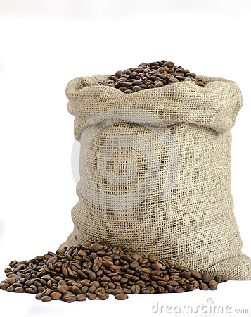 Free Bag Of Coffee Beans Stock Images - 33358984