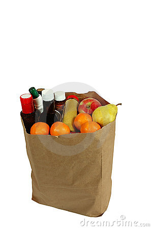 Free Bag Of Groceries Royalty Free Stock Photography - 364067