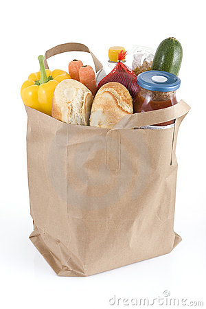 Free Bag Of Groceries Royalty Free Stock Photography - 7425497