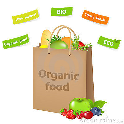 Bag With Organic Food