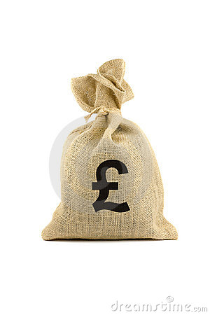 Bag with pound sign