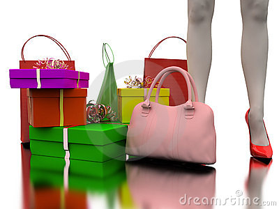 Bag, shopping and gifts