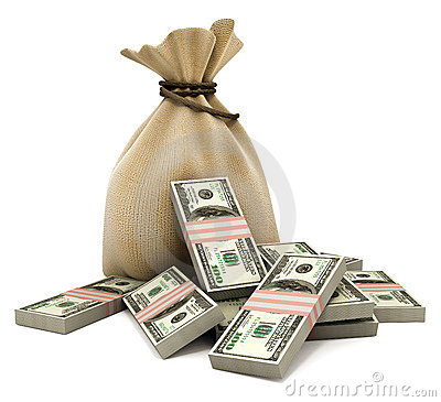 Free Bag With Money Dollars Stock Photos - 2699363