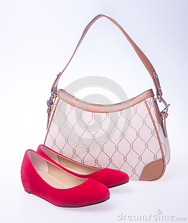Free Bag. Women Bag And Fashion Shoe On A Background. Royalty Free Stock Photos - 78353028