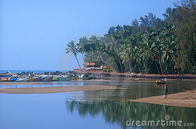 Baga beach in India Editorial Image