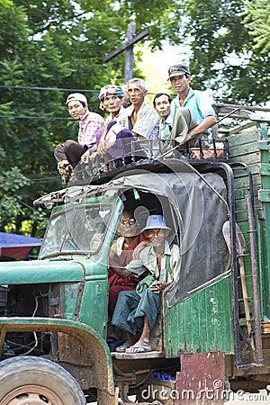 Bagan Myanmar Transportation Editorial Photo
