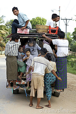 Bagan Myanmar Transportation Editorial Image