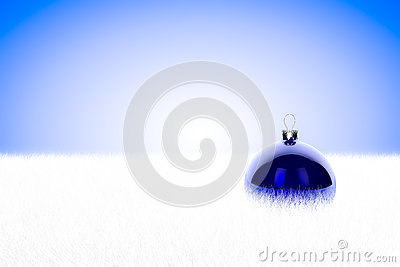 Bagattella blu in pelliccia