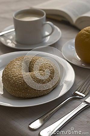 Bagel for breakfast