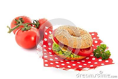 Bagel mit Käse