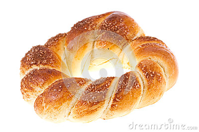 Bagel with sugar isolated