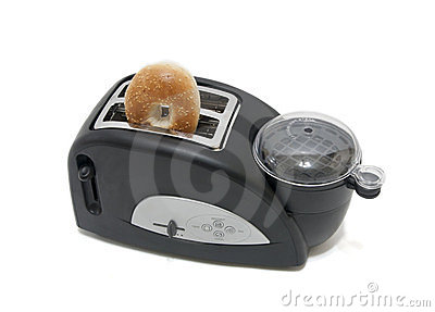 Bagel in the toaster