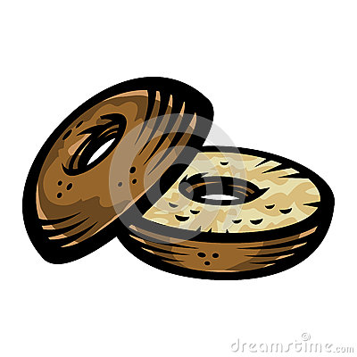 Free Bagel Vector Icon Royalty Free Stock Image - 69008336
