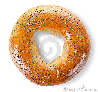 Free Bagel With Poppy Seeds Stock Photos - 25676533